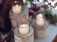 Birch Candle Holders / Qty 24