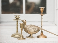 Brass Candle holders / Qty 20