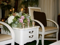 Ivory Provincial Side Tables / Qty 2