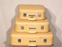 Vintage Yellow Suitcases / Qty 1set