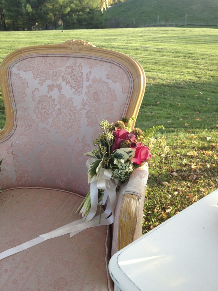 A lovely pair of champagne rose chairs new to our collection.
