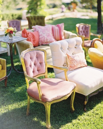 An eclectic mix of beautiful chairs for any ceremony, lounge or special event