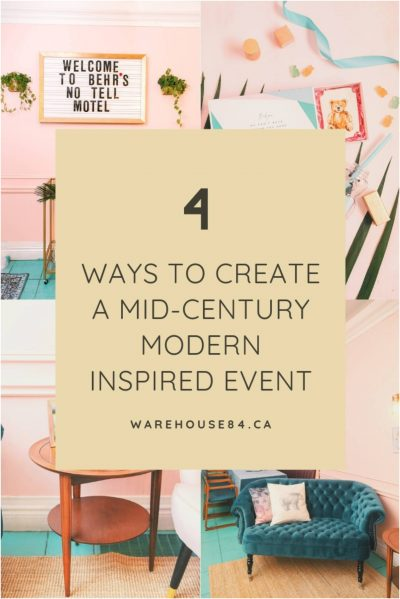 how to create a midcentury modern inspired birthday event
