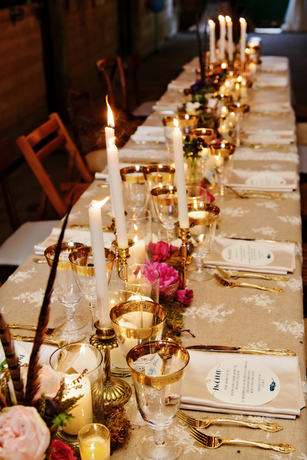 Brass candle collection