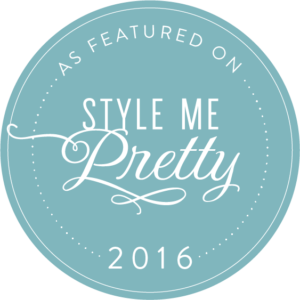 As featured on Style Me Pretty