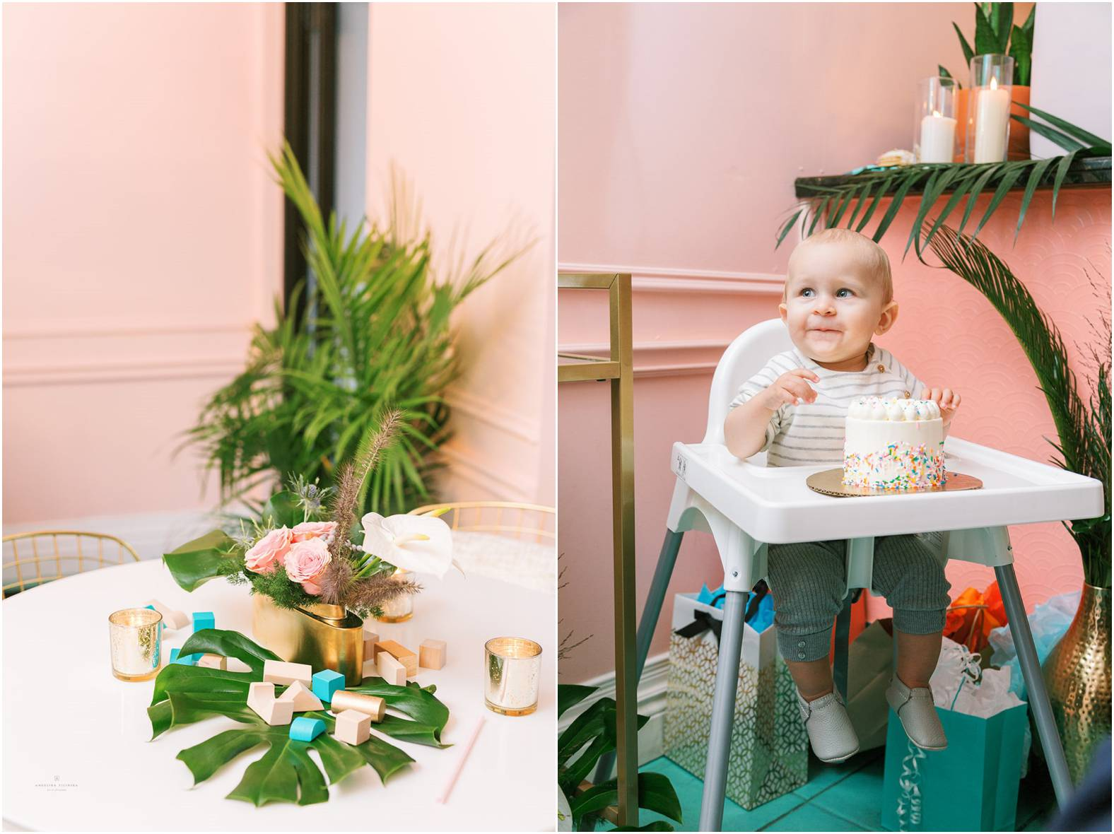 midcentury modern inspired first birthday