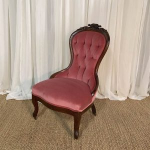 Vintage rose chair