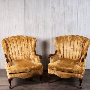 Gold Velvet Vintage Chair