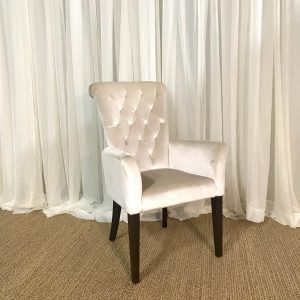 Ivory arm chair