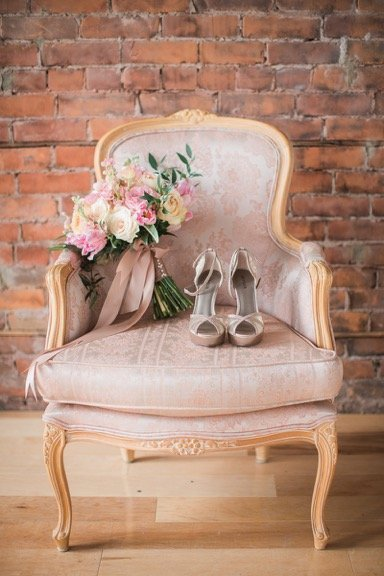 blush arm chair