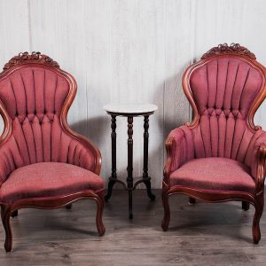 Burgundy Vintage Chairs