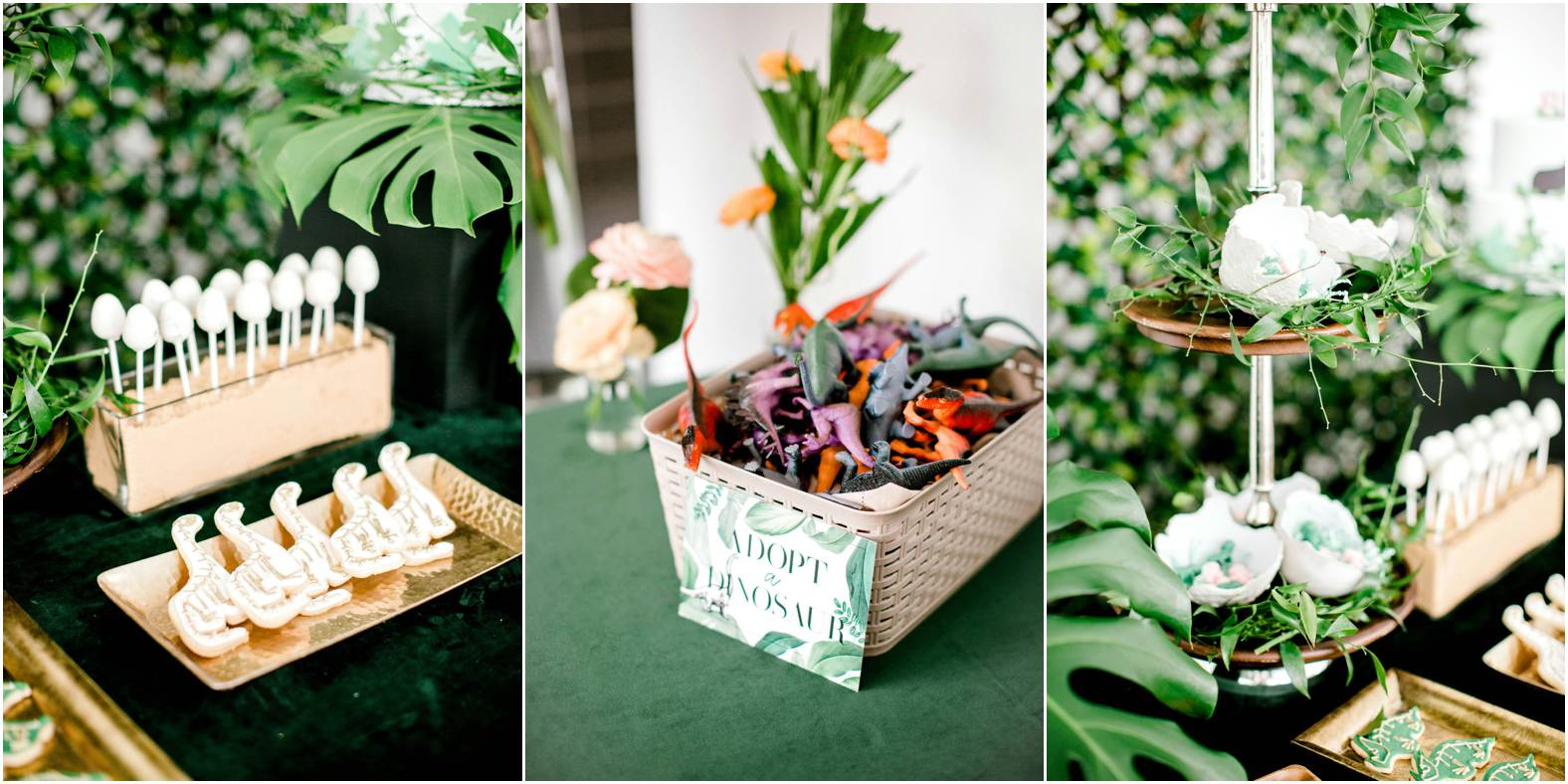 DIY dinosaur party inspiration and dessert table