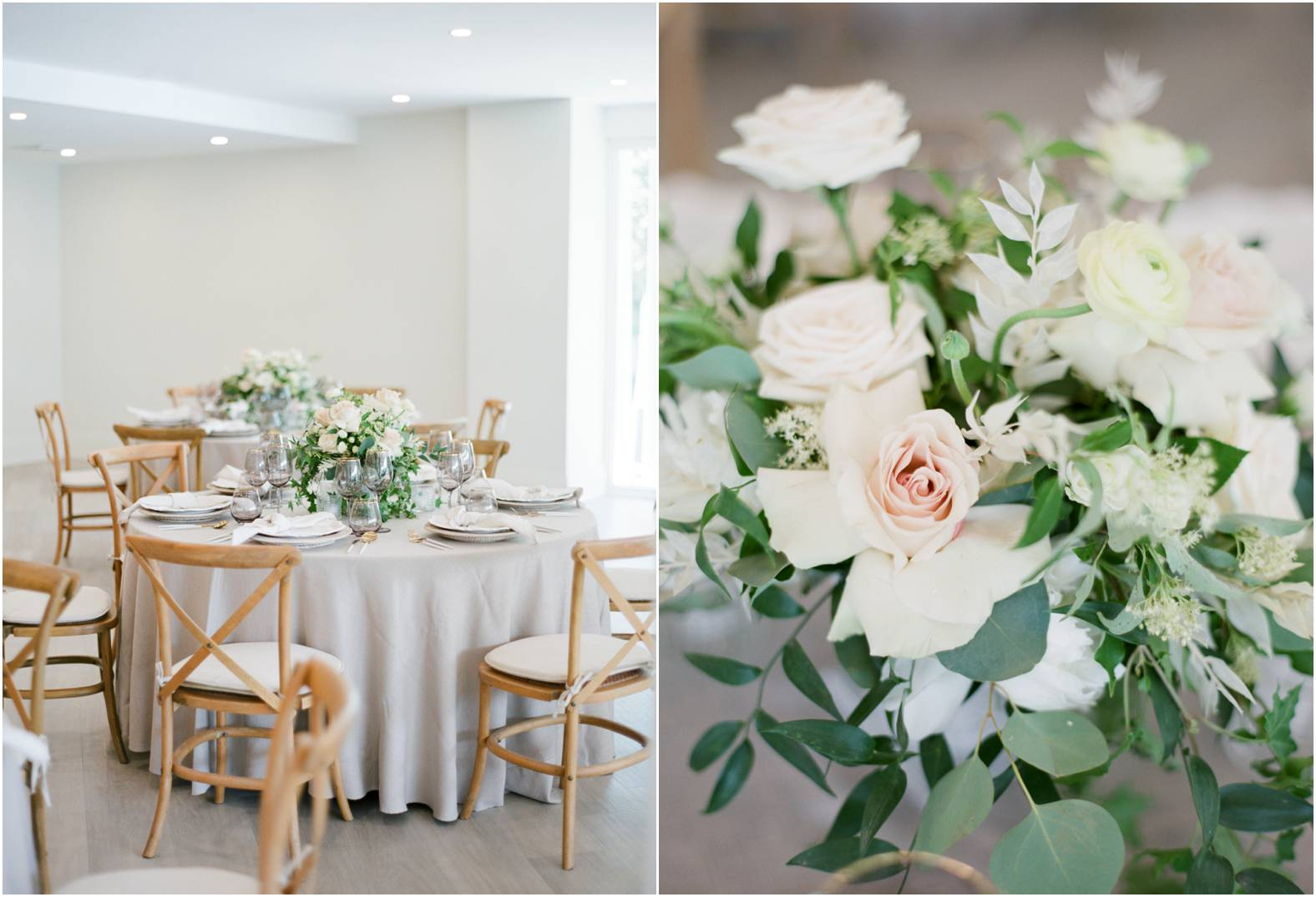 Classic neutrals and natural wood theme wedding at The Gate House in Niagara on the Lake
