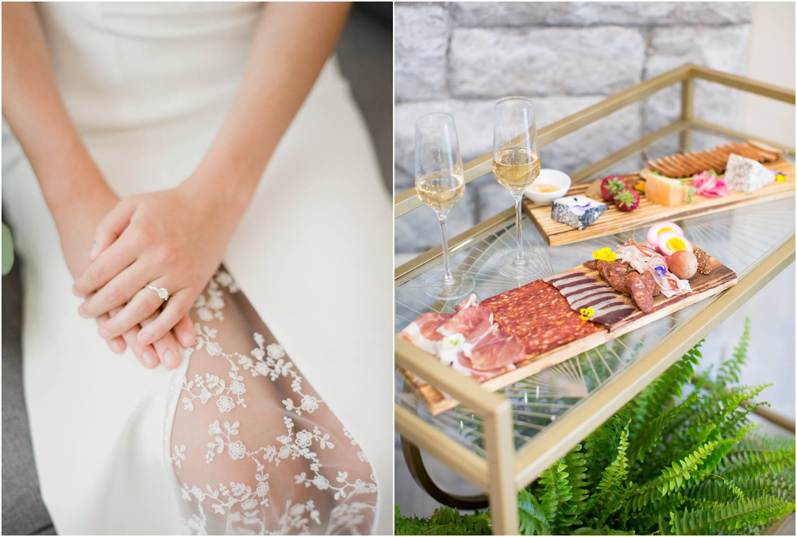 Custom charcuterie board for outdoor garden wedding at The Gate House in Niagara on the Lake.